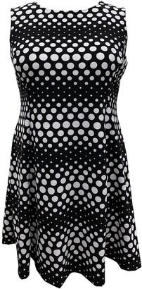 Sandra Darren Sleeveless Polka Dot Fit & Flare Dress