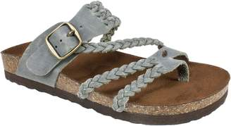 White Mountain Suede Leather Slide Sandals - Hayleigh