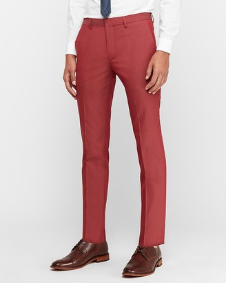 Express Extra Slim Garnet Cotton-Blend Suit Pant