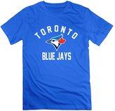 QUFGH Men's Toronto Blue Jays Royal Victory Arch Logo Cotton Tee RoyalBlue