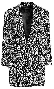 The Kooples Women's Animal Printed Blazer