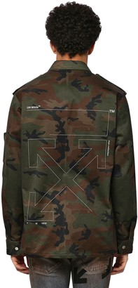 Off-White Off White Unfinished Camo Cotton Military Jacket