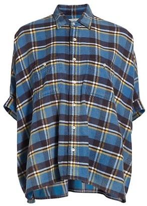 R 13 Oversized Boxy Plaid Shirt