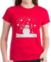 CafePress - Holiday Snowman T-Shirt - Womens Cotton T-Shirt