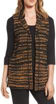 Ming Wang Women's Stripe Sweater Vest