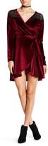 Angie Velvet Faux Wrap Dress