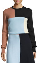 Cédric Charlier Colorblock Knit Crewneck Sweater, Multi