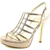 Adrianna Papell Maya Women Open Toe Synthetic Gold Platform Sandal.