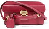 Mark Cross Grace Large Textured-leather Shoulder Bag - Claret