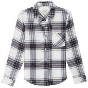 Rails White Navy Magenta Milo Shirt - small - White/Blue/Red