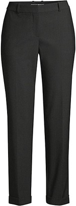 HUGO BOSS Tocanes1 Stretch Wool Blend Pinstripe Cuffed Trousers