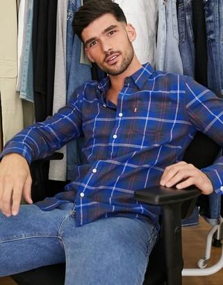 Levi's sunset 1 pocket shirt check long sleeve shirt