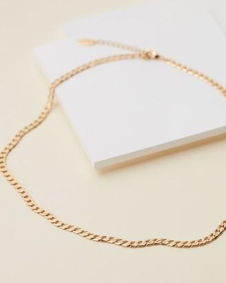 Orelia London Flat Link Curb Chain Necklace