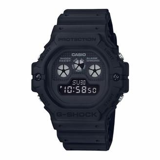 Casio Mens Digital Quartz Watch with Plastic Strap DW-5900BB-1ER