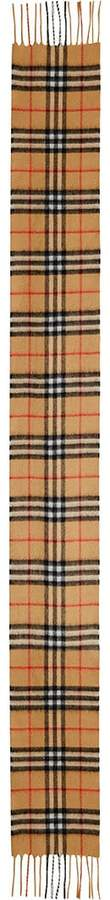 Burberry long vintage check cashmere scarf