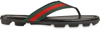 Gucci Web and leather thong sandal
