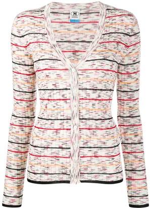 M Missoni Knitted Striped Pattern Cardigan