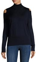 Vince Wool Cold Shoulder Turtleneck Sweater