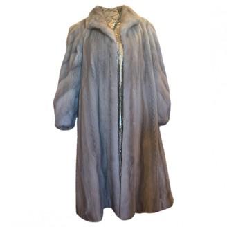 Saint Laurent Grey Mink Coat for Women Vintage