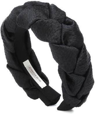 Jennifer Behr Lorelei plaited silk headband