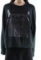 Polo Ralph Lauren Black Women's Size Medium M Crewneck Sweatshirt
