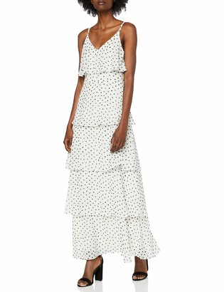 Dorothy Perkins Women's CAMI Ruffle Tiered Maxi Party Dress