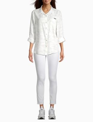 Calvin Klein Camo Print Button-Down Shirt