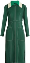 Burberry Detachable-collar crepe dress