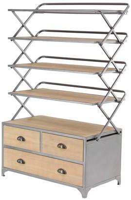Uma Enterprises Metal Wood Storage Shelf