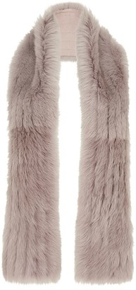 West 14th Upper West Shearling Scarf Taupe Shearling