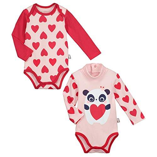 Camilla And Marc Bodies Pack of 2 Baby Girl's Long-Sleeved MiniLove - Size 12 Months (80 cm)