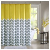 Nobrand No Brand Darcy Geometric Print Microfiber Shower Curtain - Yellow