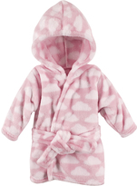 Hudson Baby Pink Clouds Plush Hooded Bath Robe