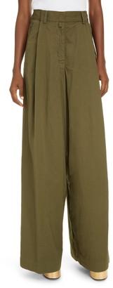 Dries Van Noten Podium Wide Leg Cotton Trousers