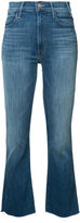Mother cropped kick jeans