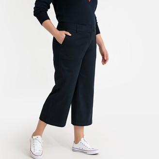 Castaluna Plus Size Wide Leg Cropped Chinos