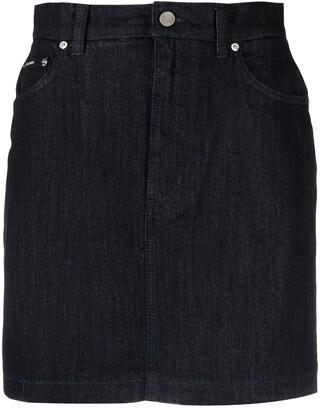 Dolce & Gabbana Straight Denim Miniskirt