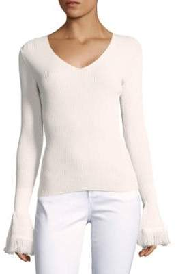 Derek Lam 10 Crosby Rib-Knit Long Sleeve Sweater