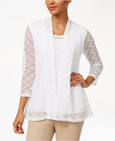 JM Collection Lace Layered-Look Top, Created for Macy's