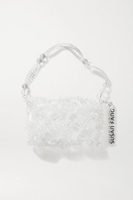 Susan Fang Bubble Net Beaded Tote - Clear