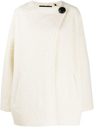Isabel Marant Asymmetric Contrast-Button Jacket