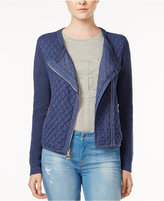 Tommy Hilfiger Quilted Moto Cardigan, Only at Macy's