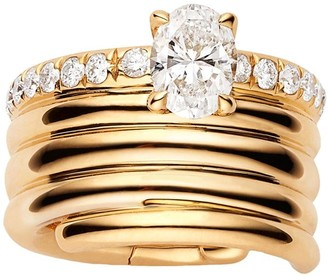 Repossi 18kt rose gold Blast oval diamond earcuff