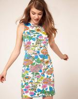 ASOS Dress In Floral Print With Cut Outs