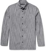 Issey Miyake Textured Cotton, Linen and Ramie-Blend Shirt