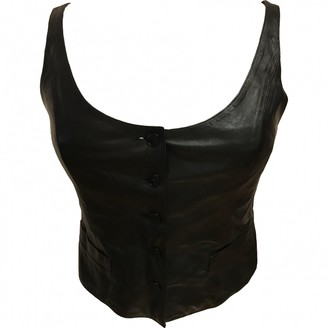 agnès b. Black Leather Top for Women