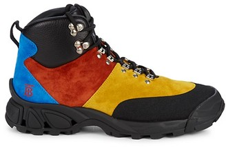 Burberry Colorblock Suede Hiking Boots