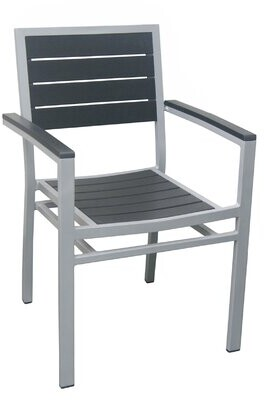 DHC Furniture Outdoor Patio Chair Color: Black