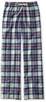L.L. Bean L.L.Bean Flannel Sleep Pants, Plaid