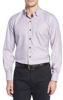 David Donahue Men's Regular Fit Plaid Sport Shirt